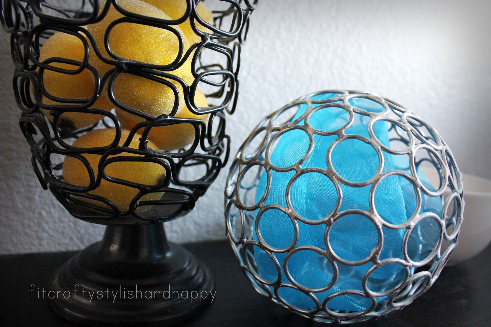 Fit crafty stylish and happy guest bathroom makeover for Yellow and blue bathroom accessories