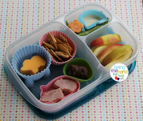 lunchables cracker stackers ham cheese piggy bento preschool work easy quick healthy