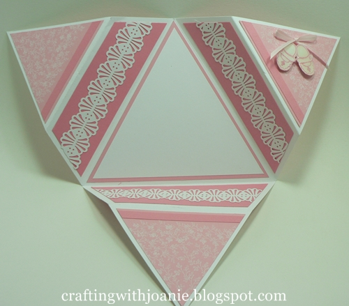 crafting with joanie how to make a star fold card