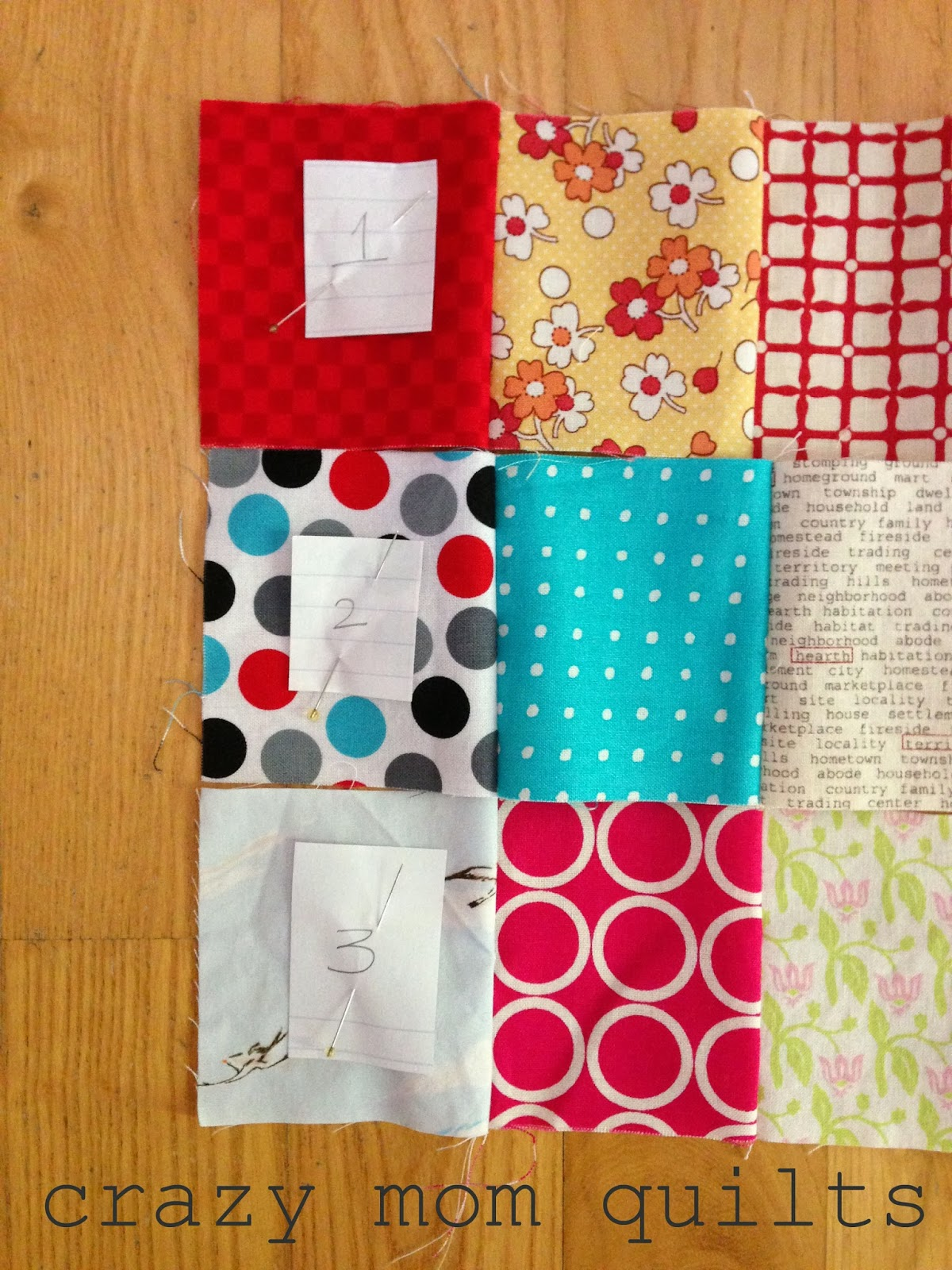 Crazy Mom Quilts One Way To Randomize Patchwork