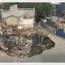 Vídeo.- hundimiento del terreno 'devora' varios edificios en China.