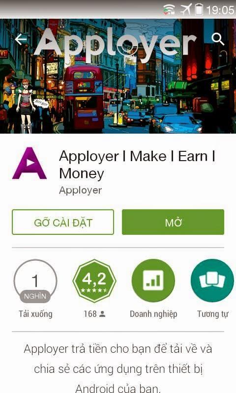 AppLoyer Kiếm tiền trên điện thoại Android