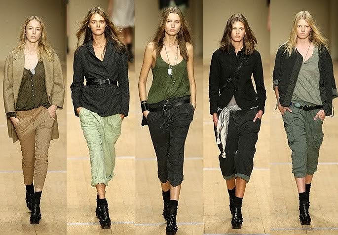 Isabel Marant Spring 2008 via BIG BLACK BOOTS LONG BROWN HAIR