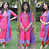 Pink and Blue Sparkling Salwar