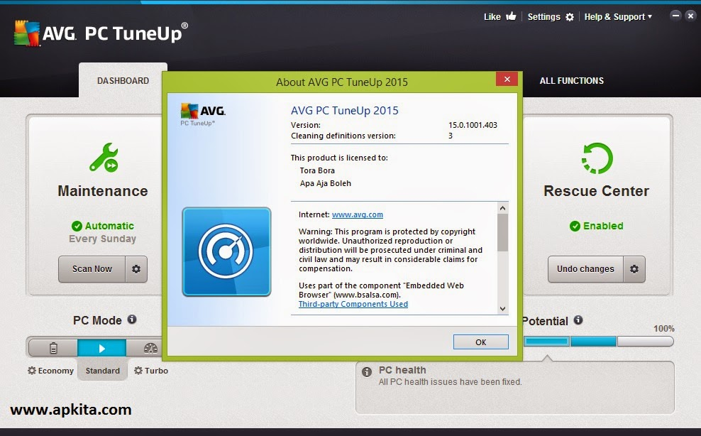 AVG Tune Up Utilities 2015 Full Version Terbaru