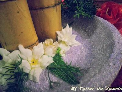 centros de mesa rusticos-candeleros de caña