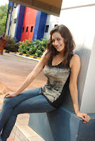 Madalasa, sharma, latest, hot, photos, in, black, dress