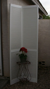 White Shabby Chic Shutters  *SOLD*