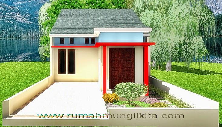 renovasi rumah dengan lebar 6 meter - tampak depan