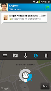 berbagi lokasi peta bbm Android glympse