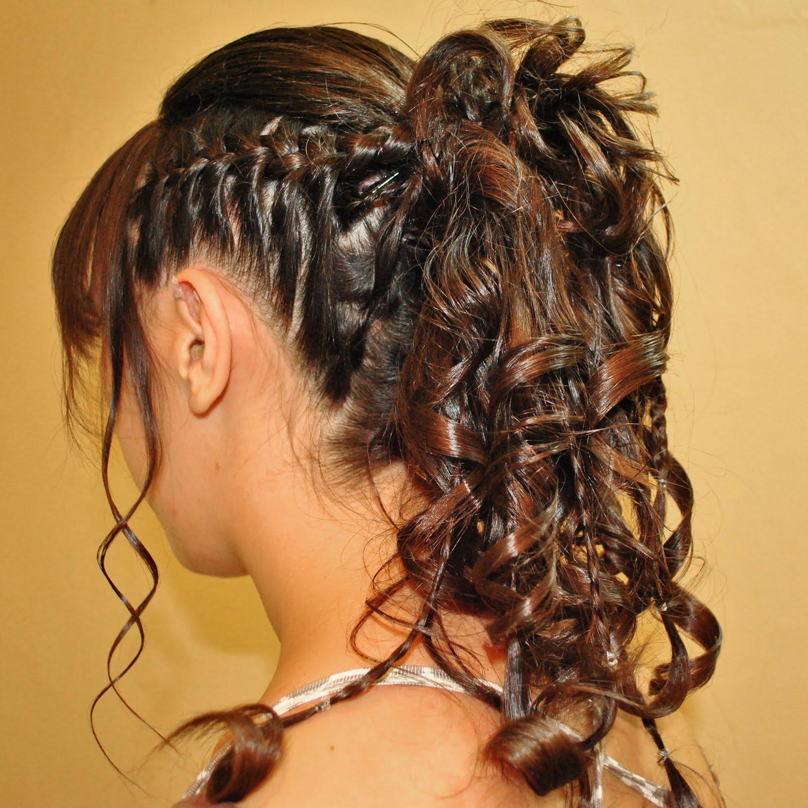 Angelica peluquera profesional peinado recogido con - Peinados y trenzas ...
