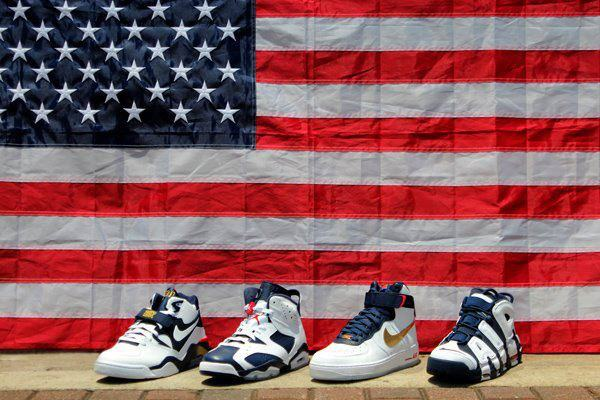 """Nike Basketball pays homage to this compilation of greatness with the """"Dream  Team"""" collection, which includes the Nike Air More Uptempo """"Olympic."""