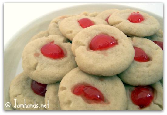 Jam Hands: Cherry Shortbread Cookies