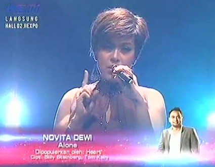 lagu novita dewi alone final x factor
