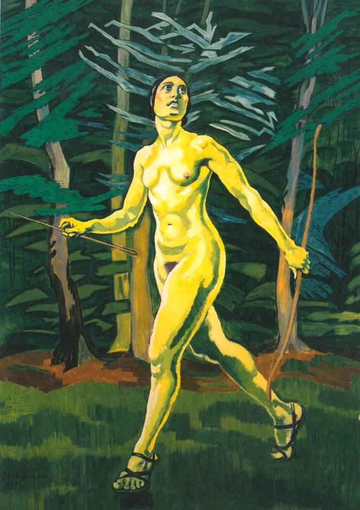 J.F. Willumsen: Jægerpigen i skoven (1934)