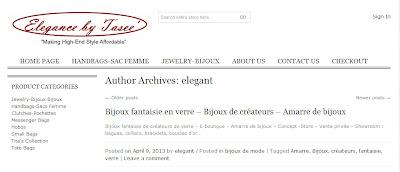 Elegance by Tasse parle de Amarre de bijoux