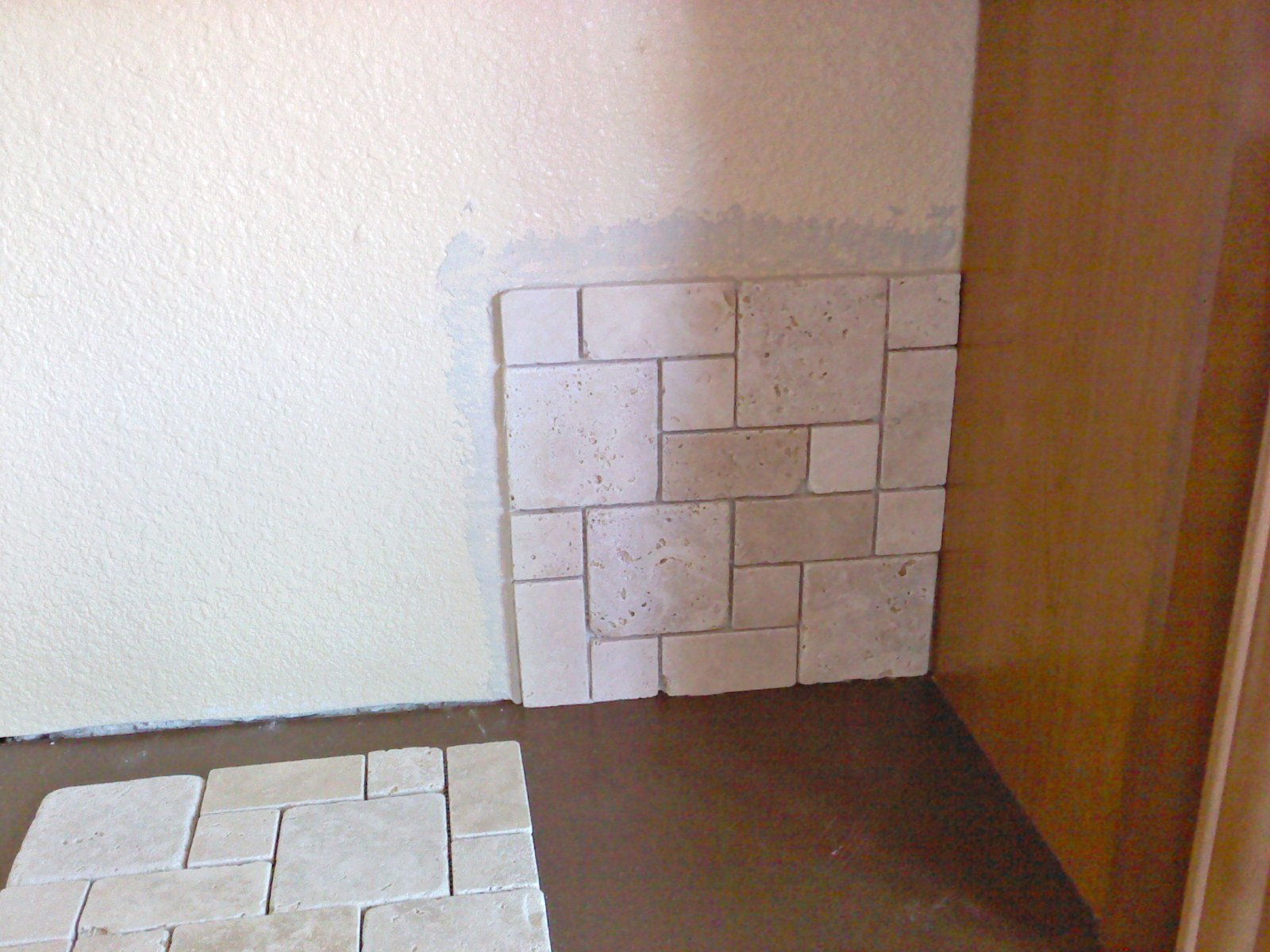 pick where you are going to start tiling in this case i went with