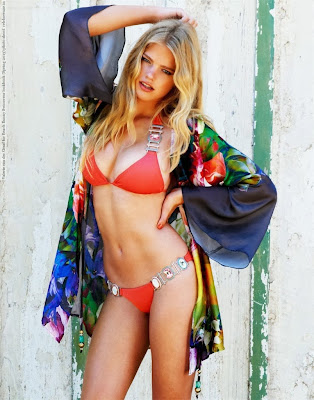 Valerie van der Graaf looks hot in sexy body for model of Beach Bunny swimwear