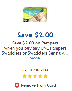 Pampers Coupons at Smiths