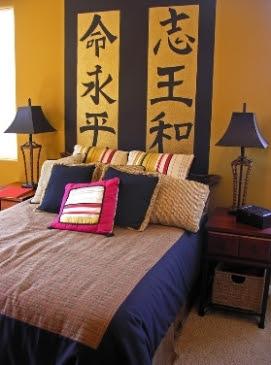 decoracion oriental pintura y madera