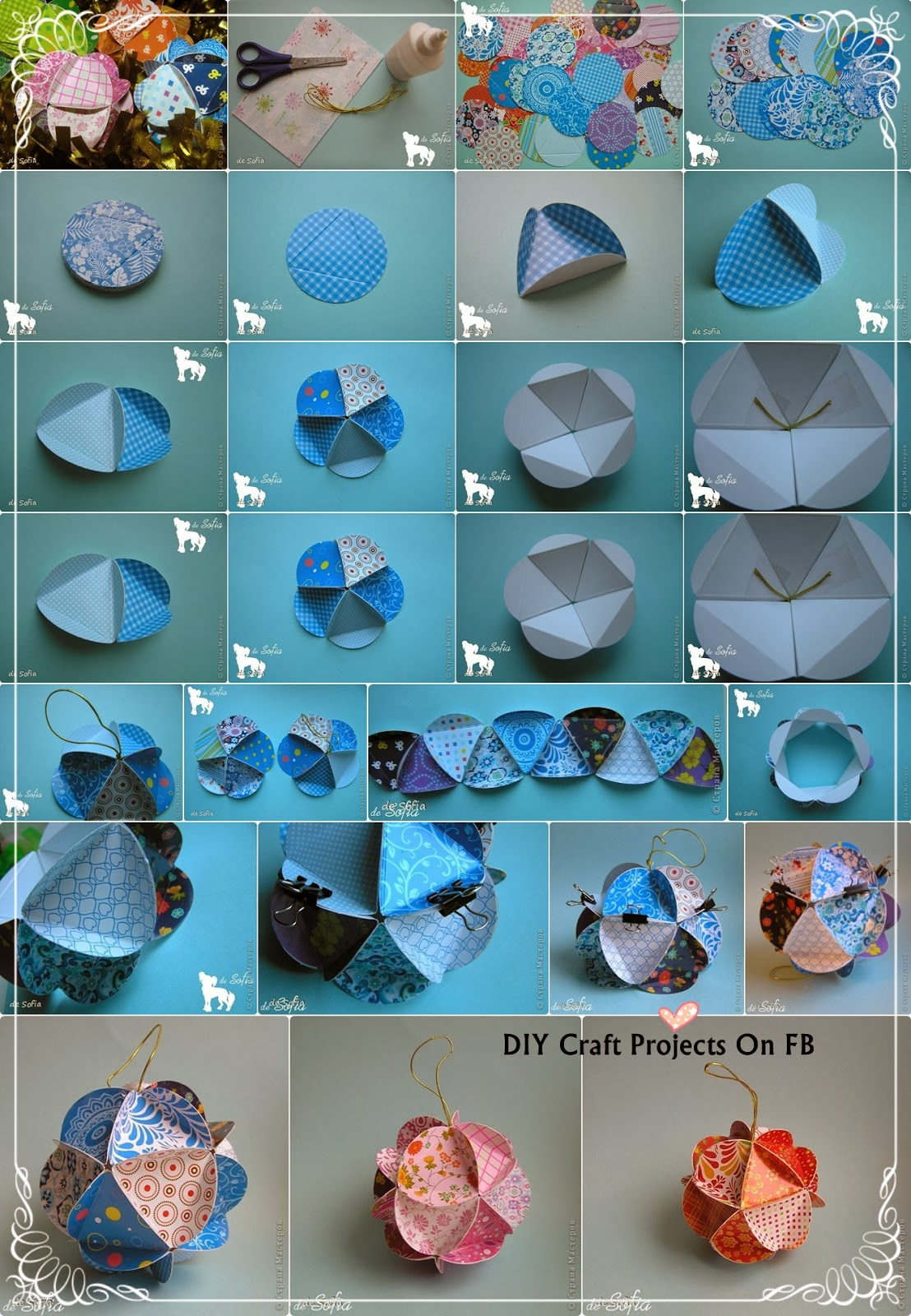Christmas Decorations Made Out Of Paper Instructions : Diy christmas ornaments ideas craft projects