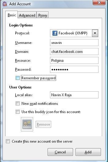 Instant messenger for Facebook