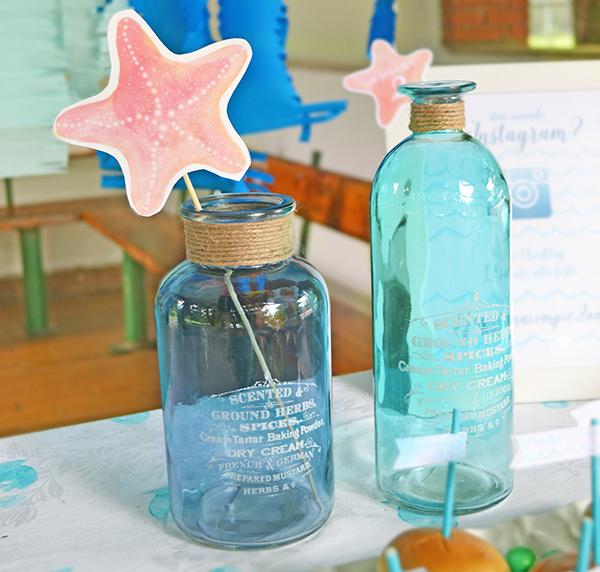 decorazioni per la festa nei toni del mare