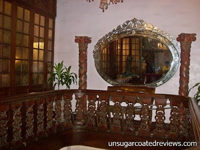 silver gilted-mirror at Barbara's Restaurant Intramuros