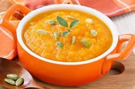 Sopa de abóbora, laranja e gengibre
