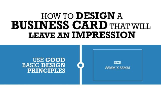 how to design a business card that will leave an impression