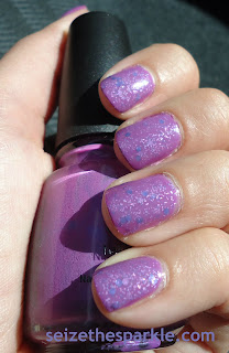 L'Oreal Lilac Coolers Layering Mani