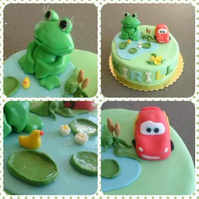 Cake frog McQueen