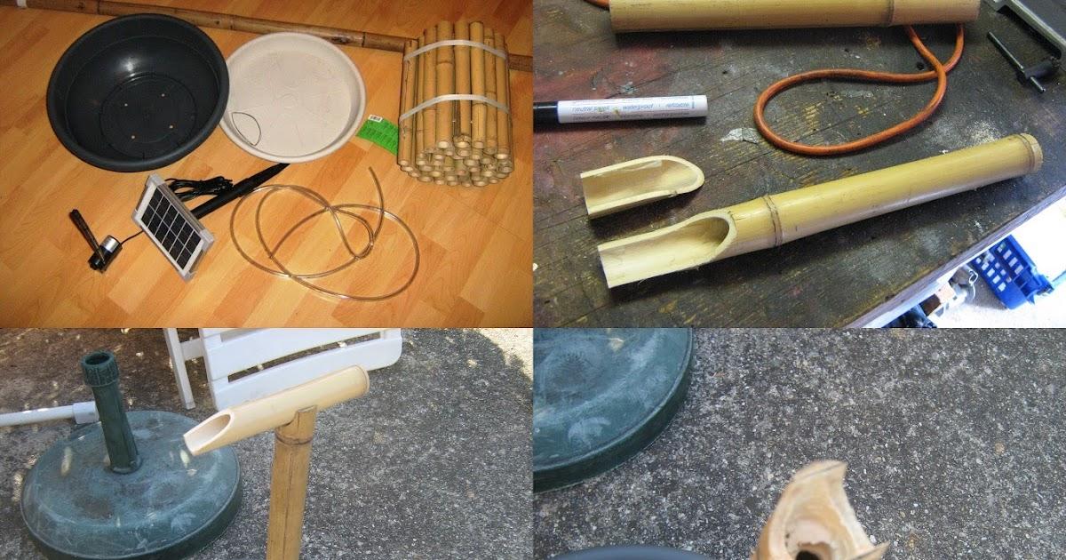 kitchen-tinker: ein japanisches bambuswasserspiel entsteht., Gartenarbeit ideen