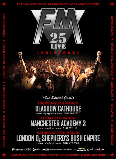 FM - Indiscreet 25 Live - Tour Dates