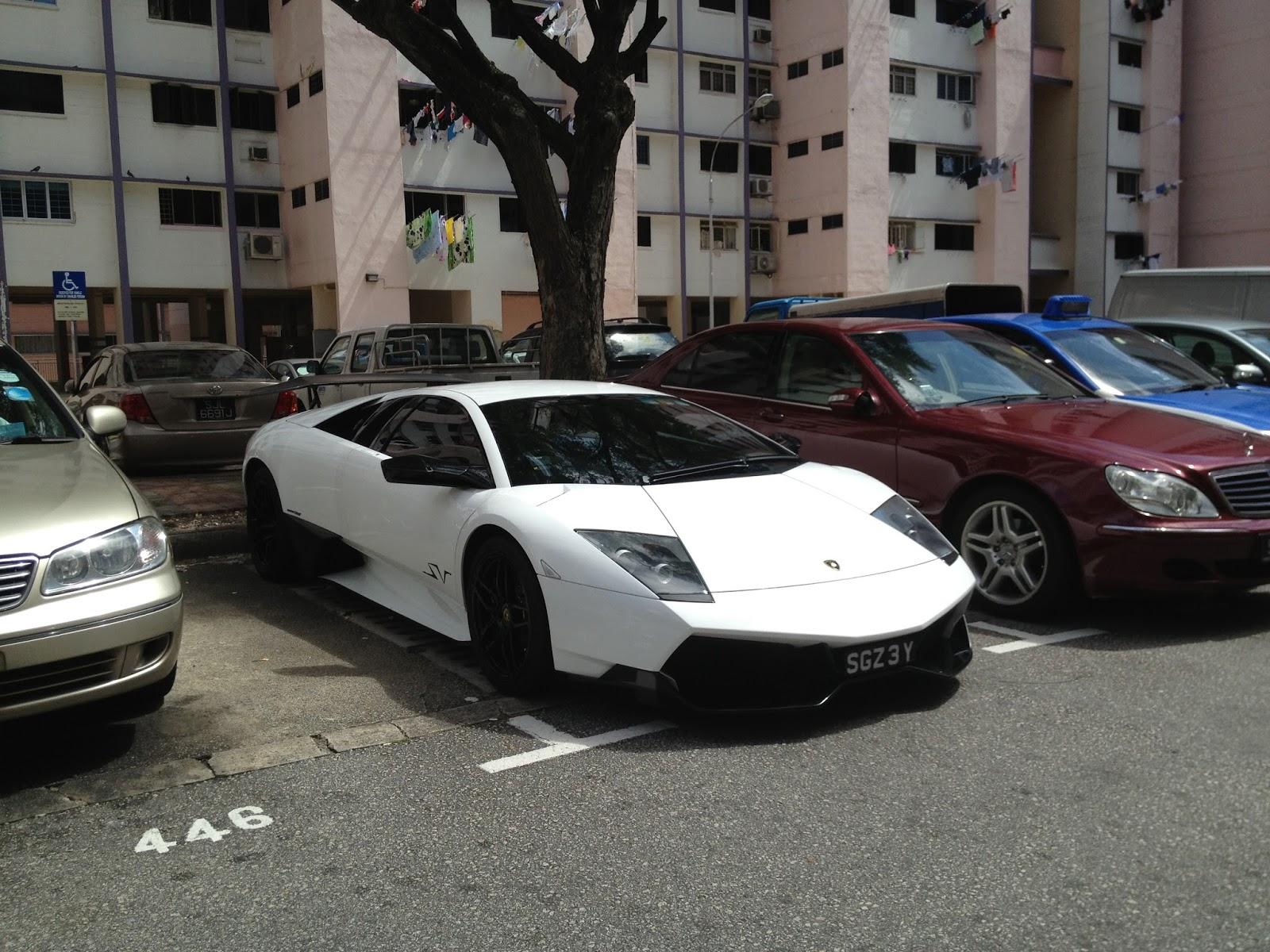 Sg Exotic Spotter White Lamborghini Murcielago Sv At Bukit Purmei