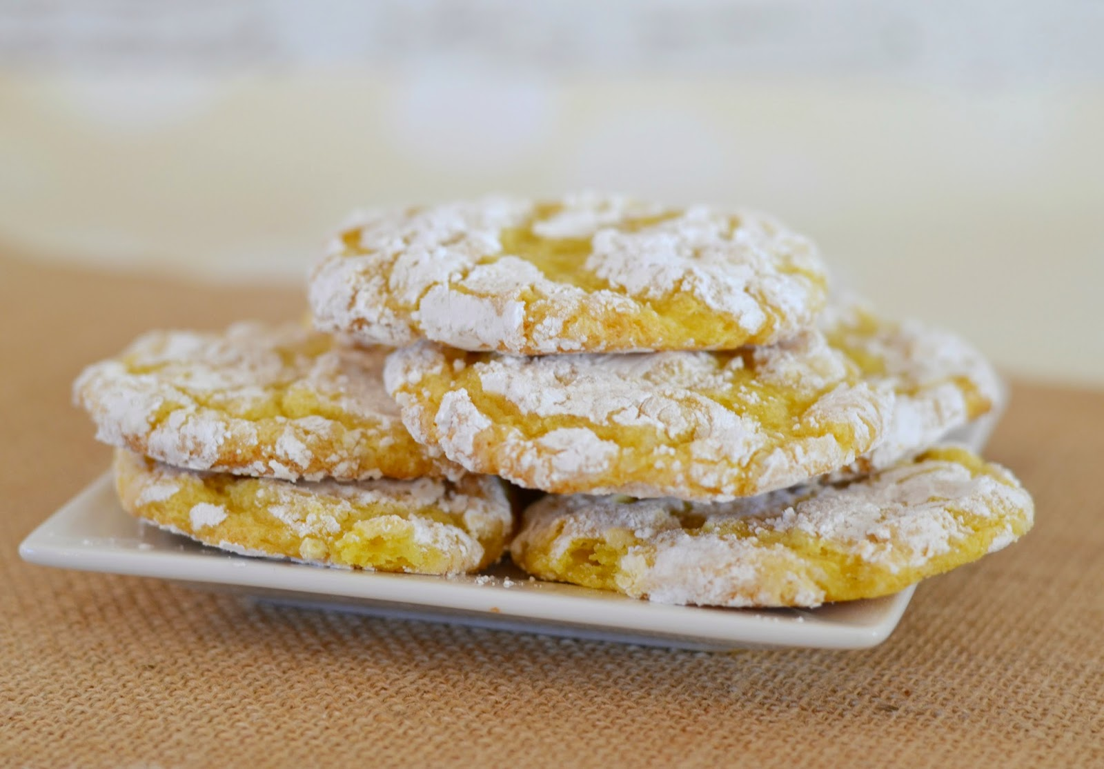 Grandma's Lemon Crinkle Cookies #Recipe.  Lemon Crinkle Cookies.  Lemon Cookies.  Easy Cool Whip Lemon Cookies.  Lemon Cookies with Cool Whip.  Lemon Desserts.  Crinkle Cookies.  Cookie Recipes.