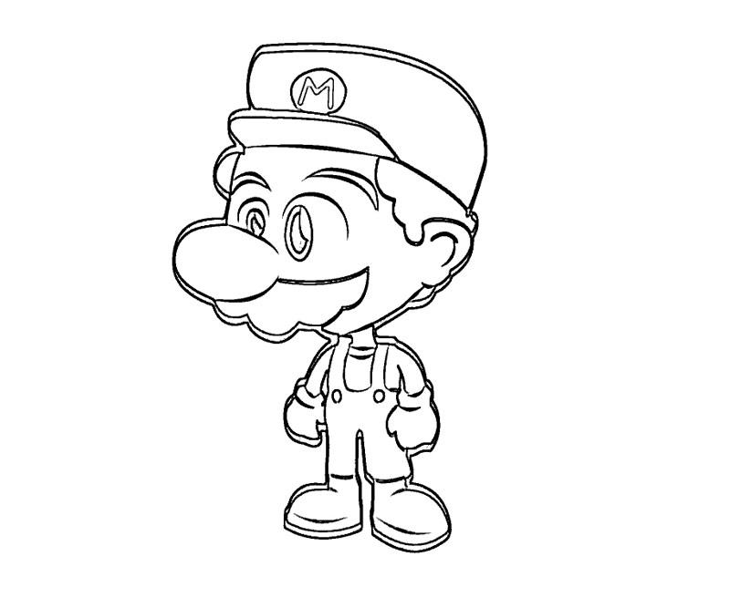 #15 Super Mario Coloring Page
