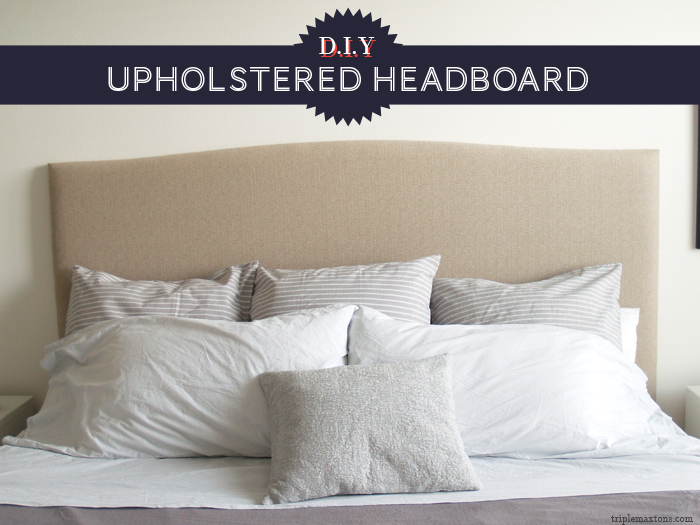 how to make a fabric headboard diy 1