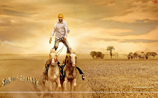 Son Of Sardaar two horse stunt wallpaper Ajay Devgn