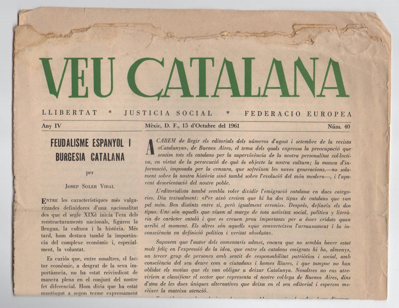 Veu Catalana, Mèxic 1961