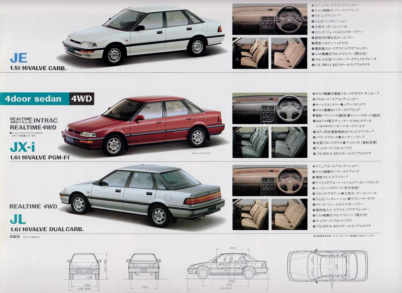 Honda Concerto, wersje, nadwozia, JDM, zdjęcia