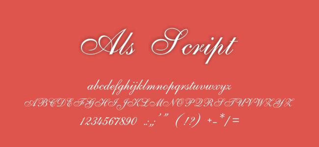 Kumpulan Font Undangan - ALS Script