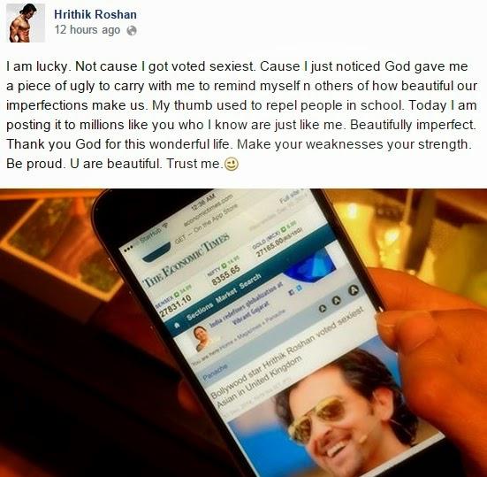 Hrithik Roshan diundi lelaki Asia paling seksi