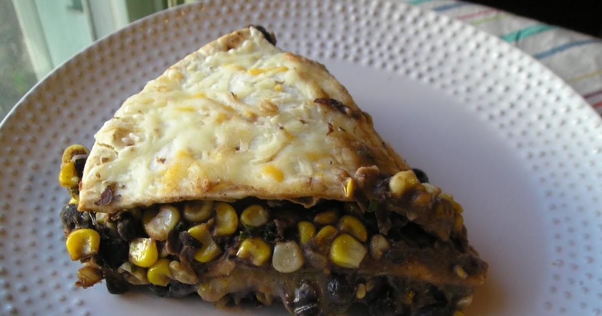 Black Bean Tortilla Pie ~ Edesia's Notebook