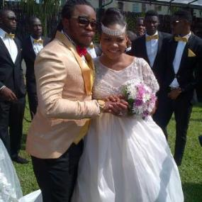 yemi sax white wedding pictures