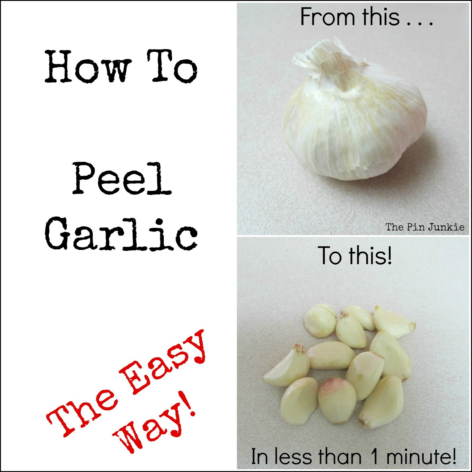 easy way to peel garlic