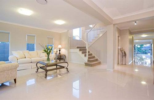 Decoraci n interior de salas en color blanco ideas para for Living room designs in ghana