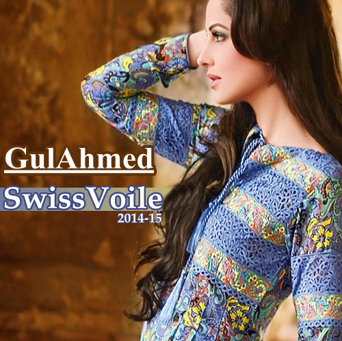 Gul Ahmed Swiss Voile 2014