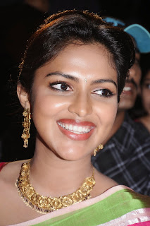Actress Amala Paul Pictures in Pink Saree at Saivam Movie Audio Launch  0005.jpg