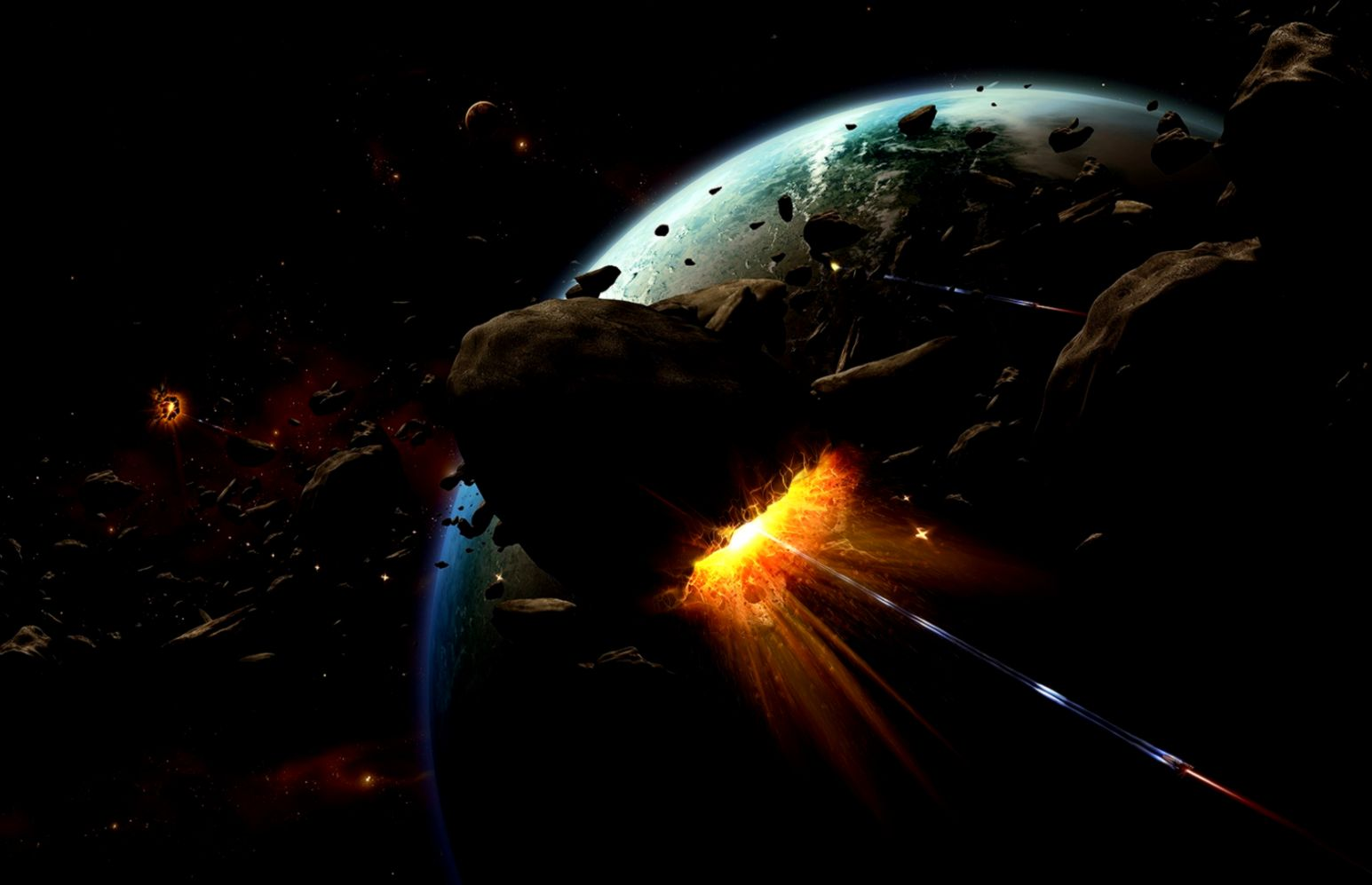 Space Universe And Planets Digital Art Hd Wallpaper